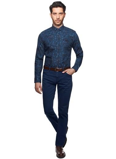 Desenli Slim Fit Gömlek-Beymen Business